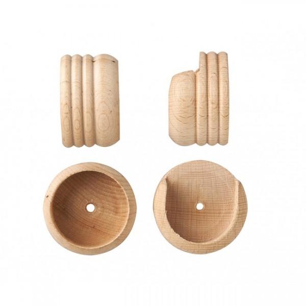 curtain rod inside mount socket brackets for 1 3 8 drapery rods pair