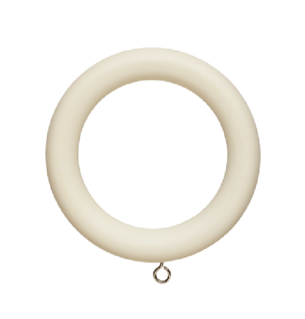 wood curtain ring for 2 curtain rod clips included 8 pack