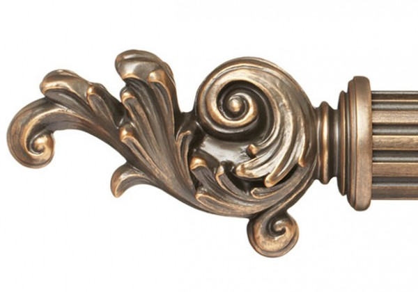 "Curtain Rod Finial For 2 1 4"" Wood Drapery Rods Pair"