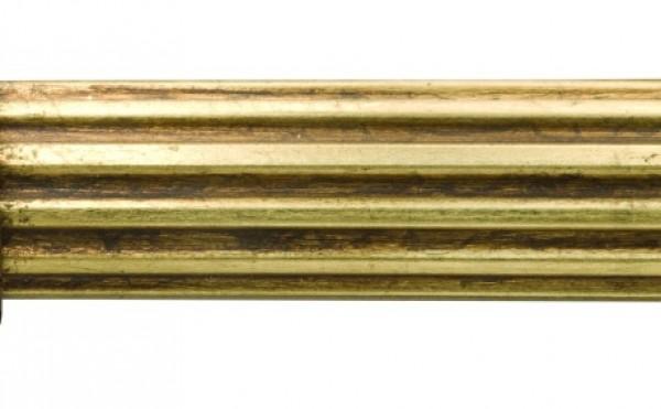 12 fluted wood curtain drapery rod 2 1 4 rod diameter