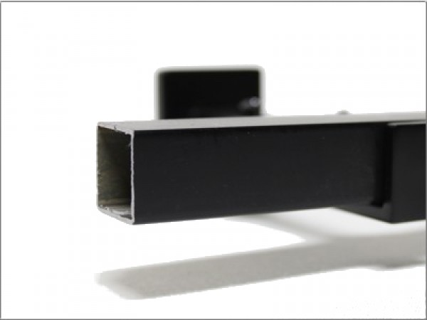 34 Black Square Curtain Rod by the foot