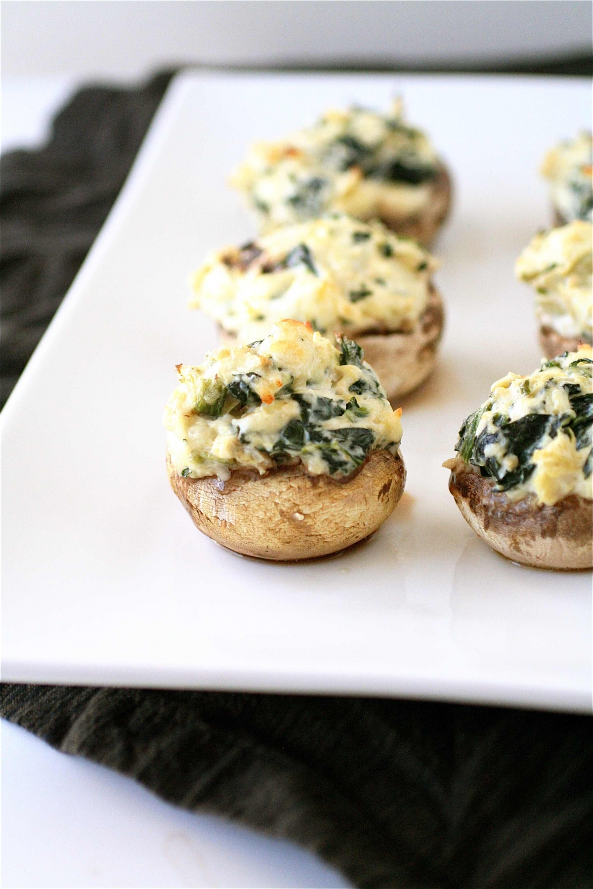 Spinach And Artichoke Stuffed Mushrooms  The Curvy Carrot