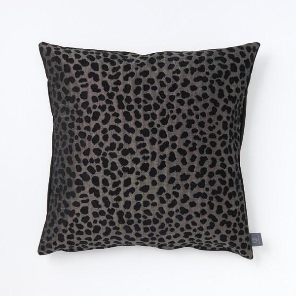 black-grey-animal-print-cushion-the-cushion-cafe-berkshire