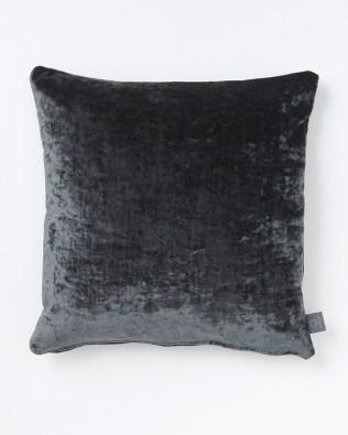 Blue Grey Faux Crushed Velvet Cushion