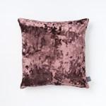 Purple Faux Crushed Velvet Cushion