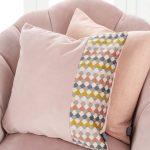 Blush Pink Hexagon Panel Cushion