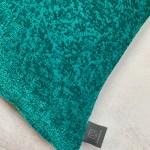 Turquoise Embossed Pattern Lumbar Cushion