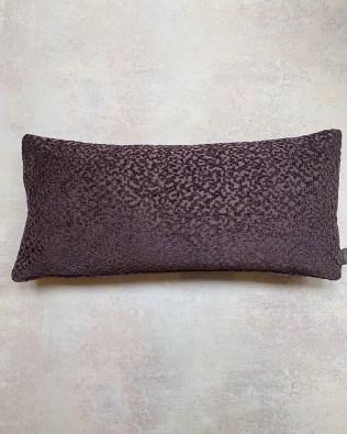 Purple Embossed Pattern Lumbar Cushion
