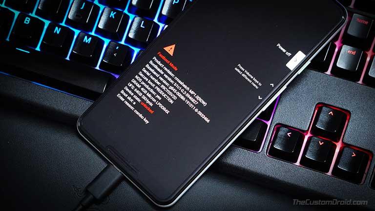 Загрузите Android-устройство в режим быстрой загрузки, чтобы установить исправленный загрузочный образ Magisk