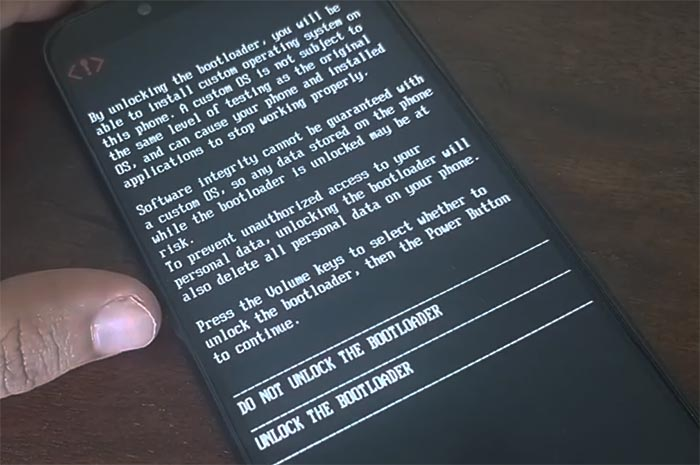 Разблокировать загрузчик на Xiaomi Mi A2 / A2 Lite - предупреждающее сообщение