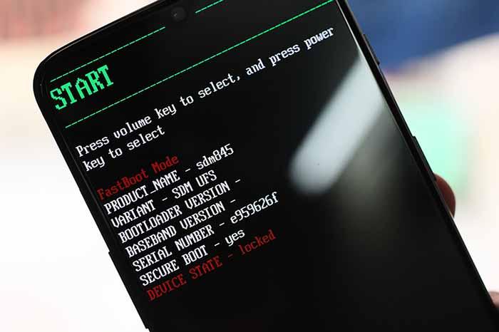 Режим загрузчика на OnePlus 7 / OnePlus 7 Pro