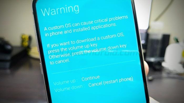 Нажмите кнопку увеличения громкости, чтобы войти в режим загрузки на Galaxy Note 10/10 +