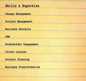 Skills list