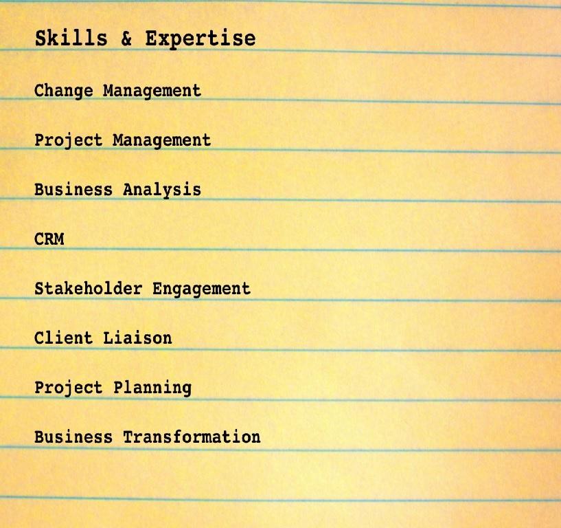 ... Skills List  Skills List