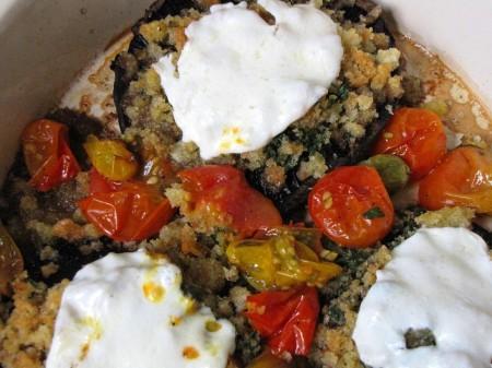 Portobellos with Herb Breadcrumbs, Tomatoes and Mozzarella