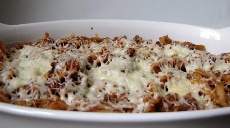 Chorizo and Mozzarella Pizza Casserole