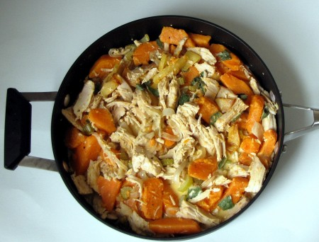 Martha's Sweet Potato and Turkey Hash