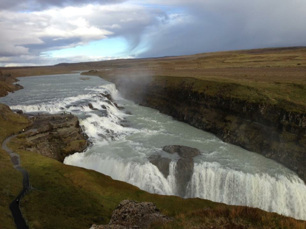 Gulfoss along the Golden CIrcle in Iceland