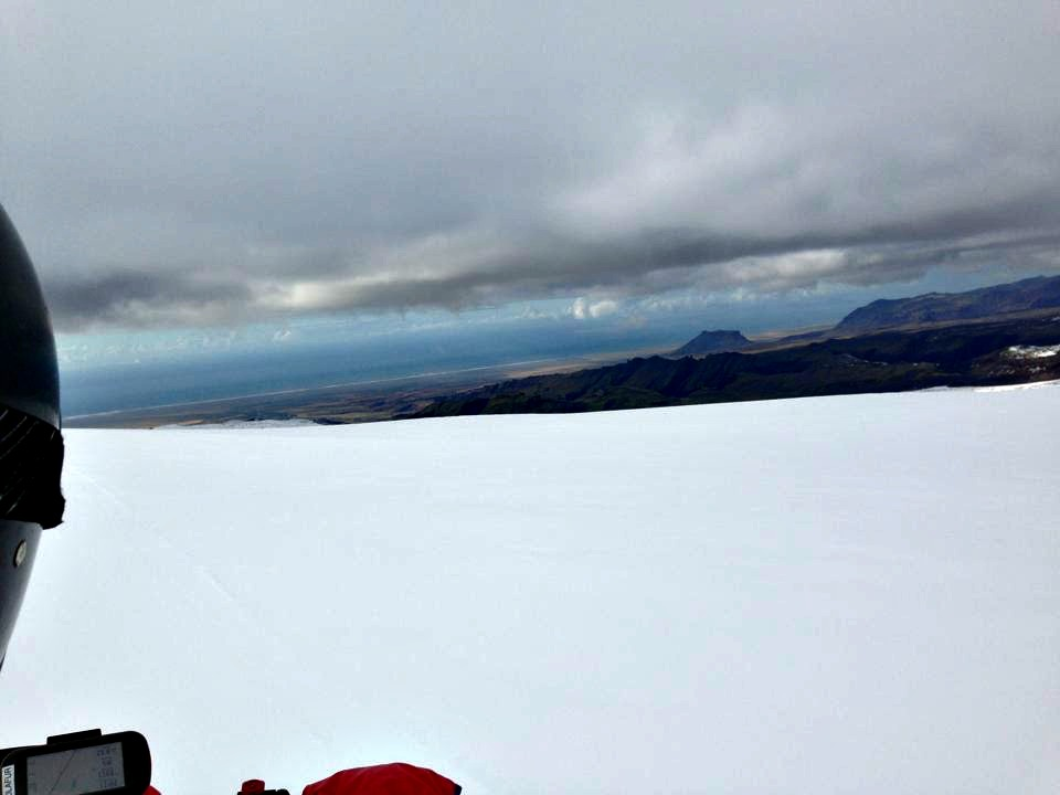 snowmobiling on glacier on southern iceland road trip