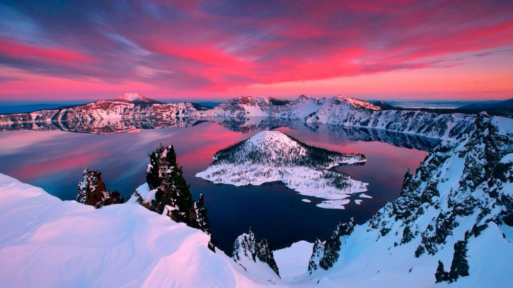 Crater Lake evening