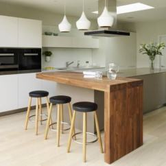 Small Island For Kitchen White Shaker Cabinets 19 Unique Ideas Every Space And Budget With Integrated Breakfast Bar
