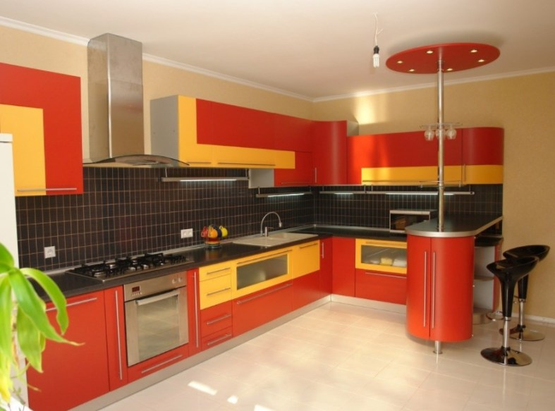 two tone green kitchen cabinets