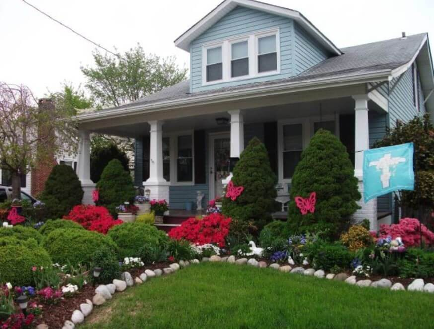 Cottage Landscaping Ideas For Front Yard Part - 23: Spring Cottage Garden - Front Yard Ideas