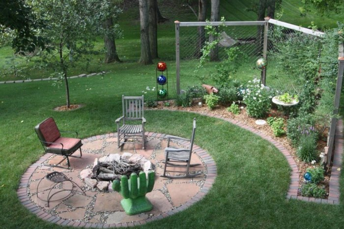 fire pit landscape design ideas