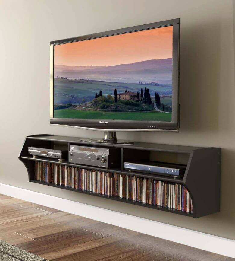 modern design floating tv stand for clutter free your room rh thedailyattack com