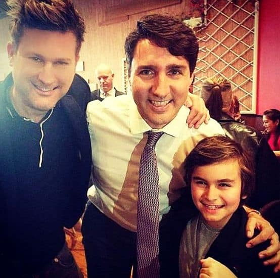 Chance Hurstfield With Canadian President Justin Trudeau