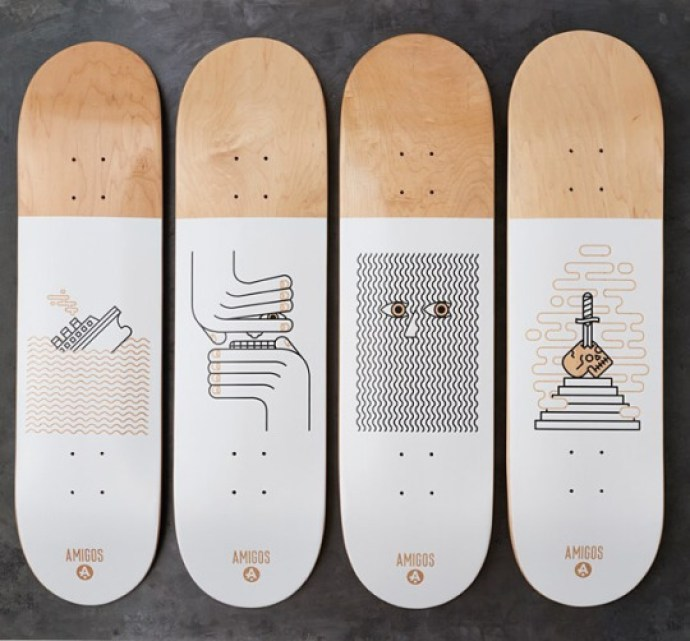 Winter 2016 serie by Amigos Skateboards