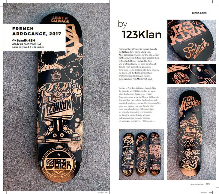 123Klan page of Skate Art Book