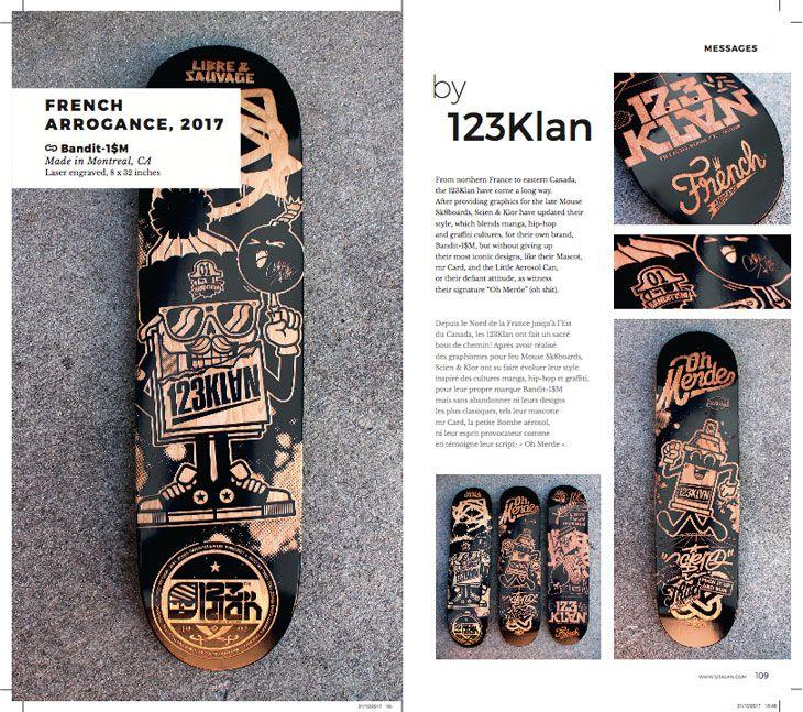 Page de 123Klan du livre Skate Art