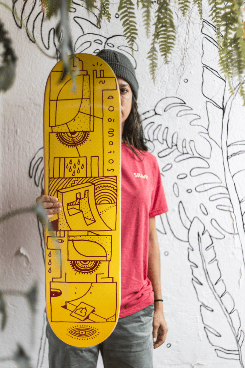 Woodwide Love Series By Elna Solowood Skateboards 2