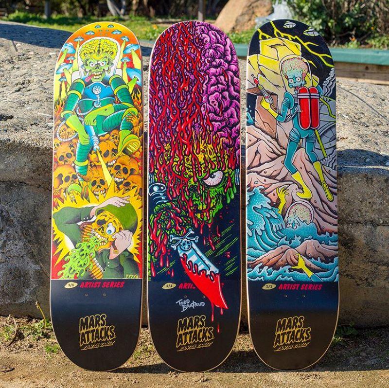 Mars Attack Santa Cruz Skateboard 28