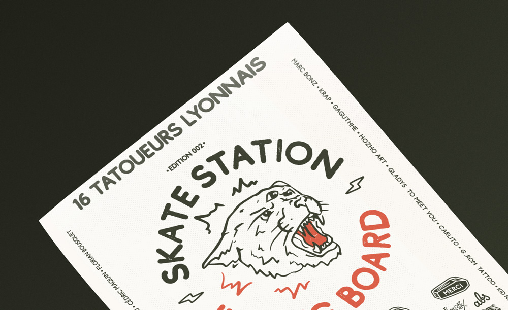 Skate Station Inking Board 4