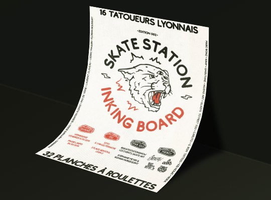 Skate Station Inking Board