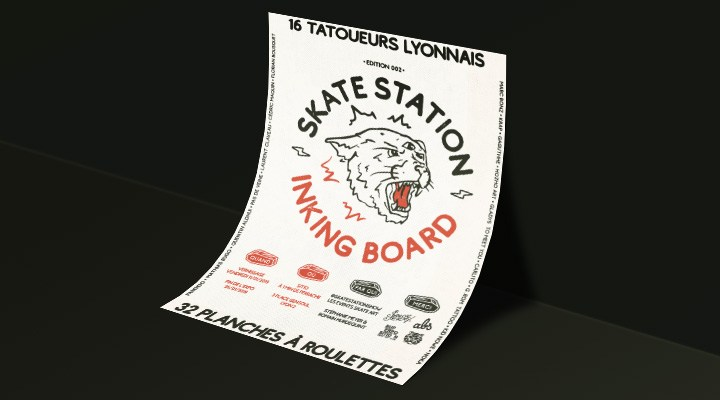 Skate Station Inking Board