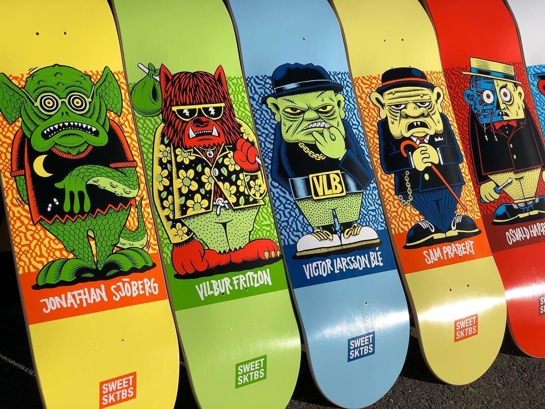 Character Series By Mander Sweet Skateboards 2