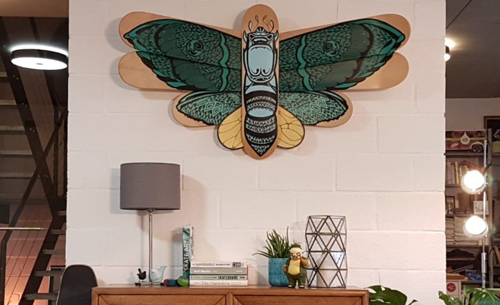 Battarfly Skateboard Sculpture By Mata7ik