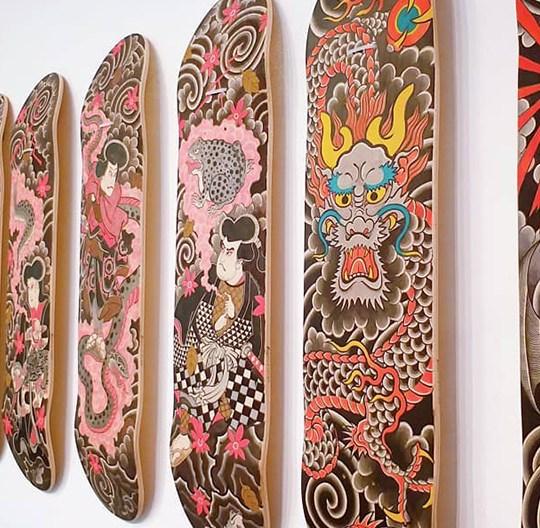 Original Painting On Decks By Horitatsu Mitomo 3
