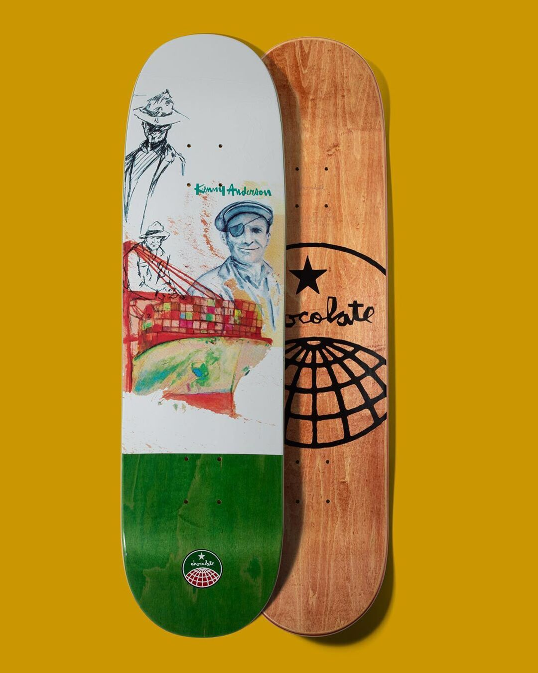 94 Stevedore Series Chocolate Skateboard 1