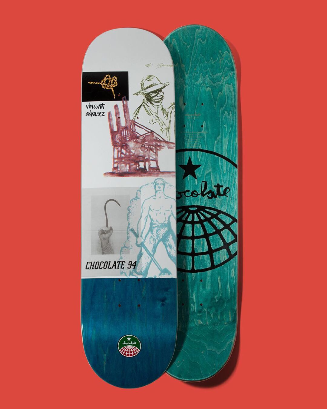 94 Stevedore Series Chocolate Skateboard 2