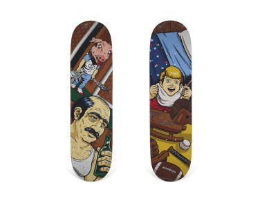 Skateboard Auction Supreme Christies Ny23