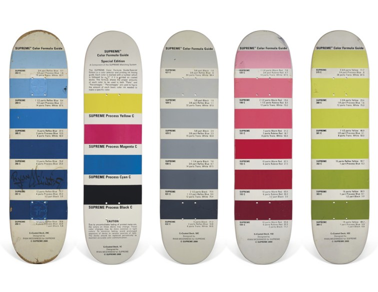 Skateboard Auction Supreme Christies Ny5