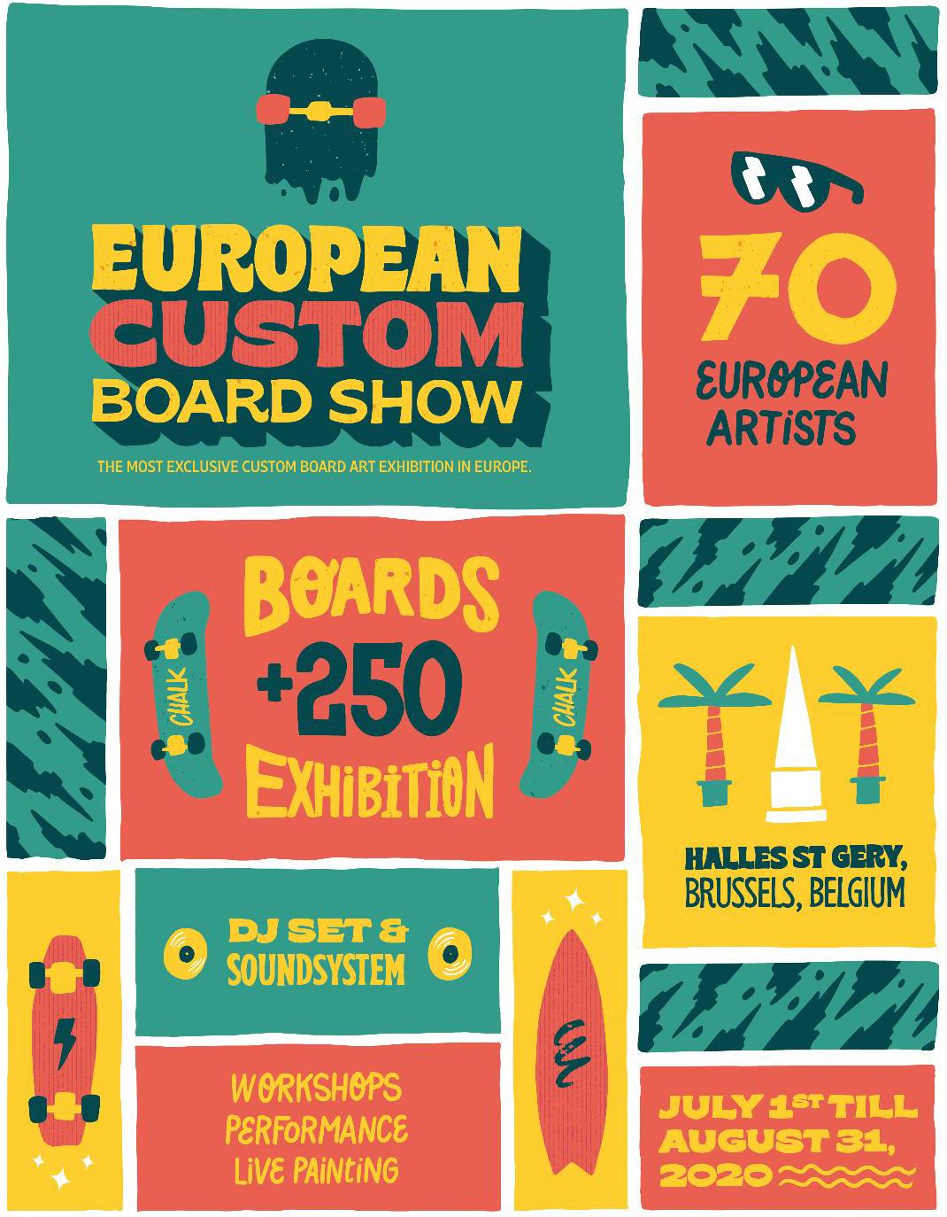 Affiche European Custom Board Exposition
