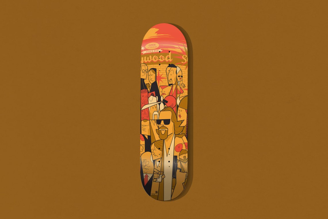 The Big Lebowski Skate Deck By Ale Giorgini X Bonobolabo 1