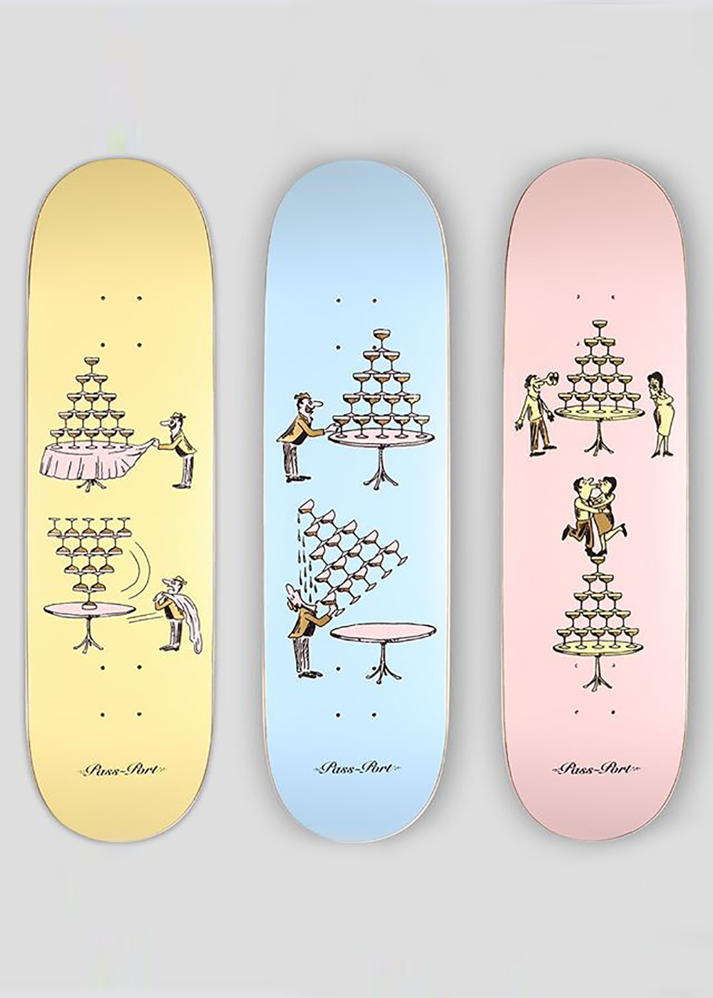 Champagne Series By Pass Port Skateboards 2