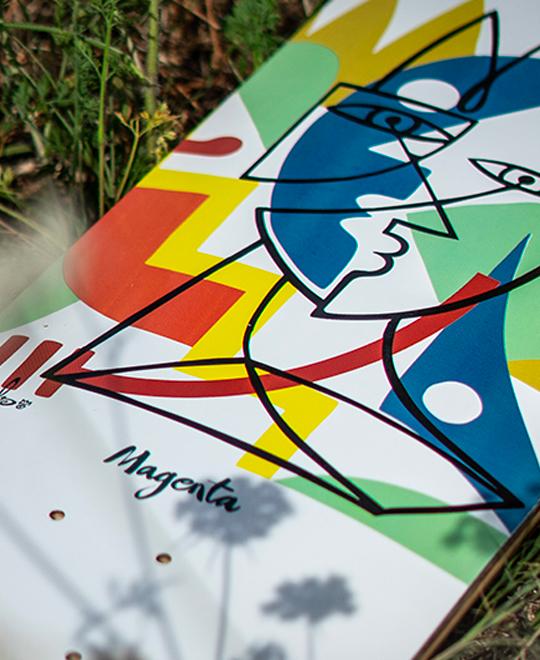 Guest Artist Board By Nils Inne X Magenta Skateboards