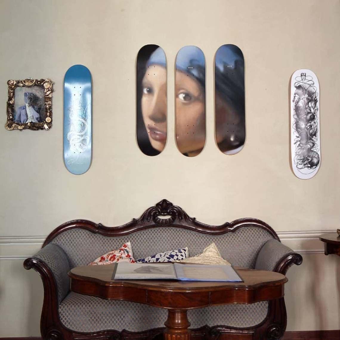 La Ragazza Con L Orecchino Di Perla Trittico Skateboards By Andrea Ravo Mattoni X Bonobolabo 4